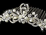 Silver Pearl Comb Wedding Formal Prom Pageant Tiara Hairpiece