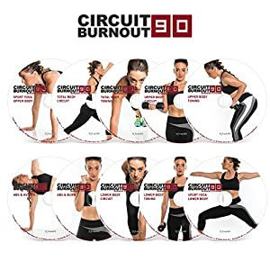 Circuit Burnout 90: 90 Day DVD Workout Program with 10+1 Exercise Videos + Training Calendar, Fitness Tracker &Training…