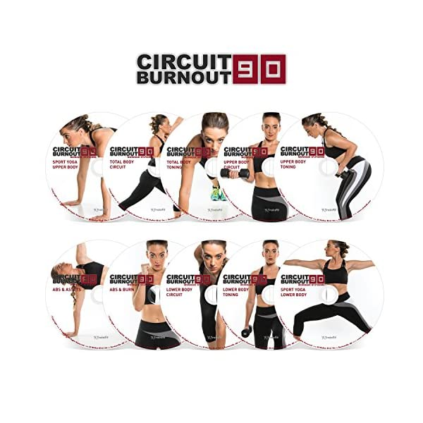 Circuit Burnout 90: 90 Day DVD Workout Program with 10+1 Exercise Videos + Training Calendar, Fitness Tracker &Training Guide and Nutrition Plan 2