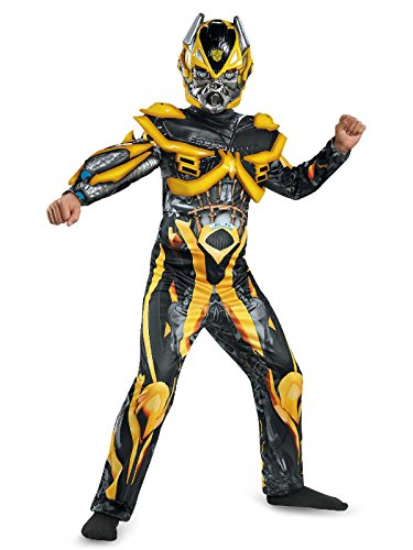 Hasbro Transformers Age of Extinction Movie Bumblebee Deluxe Boys Costume, -