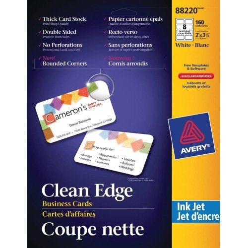 ave88220 avery clean edge 88220 business card low cost www