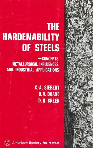 THE HARDENABILITY OF STEELS: Concepts, Metallurgical Influences, and Industrial Applications.