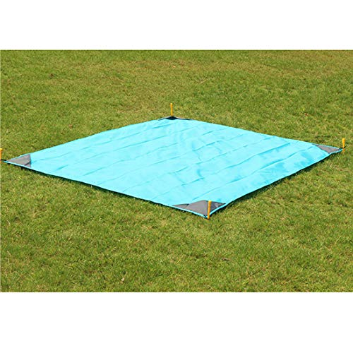 ZDTXKJ Outdoor Picnic Blanket Water-Resistant Pocket Camping mat Oxford Cloth Convenient Folding Lawn ()