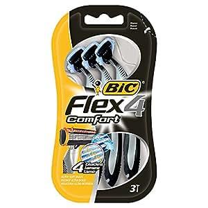 Bic comfort 4 - Pack de 3 afeitadoras de 4 cuchillas desechables