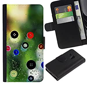 All Phone Most Case / Oferta Especial Cáscara Funda de cuero Monedero Cubierta de proteccion Caso / Wallet Case for Samsung Galaxy S3 MINI 8190 // Designer Design Clothes Nature Button