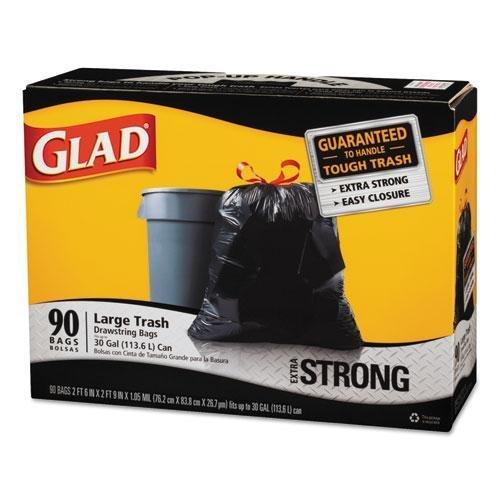 tilex-70313-drawstring-large-trash-bags-30-x-33-30gal-11mil-black-90-carton