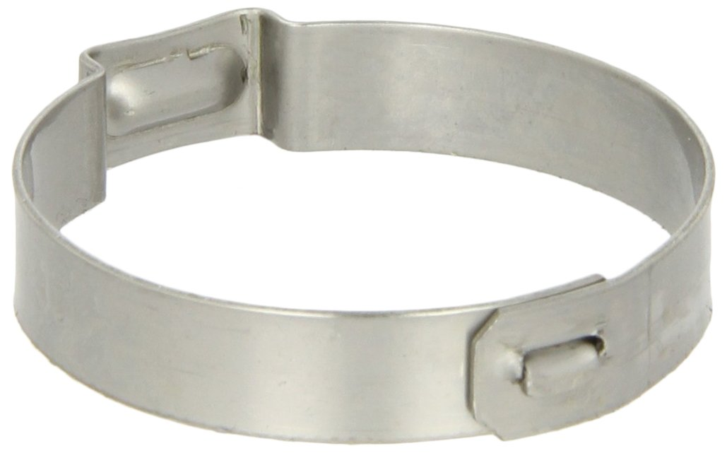 Oetiker 15500016 Stainless Steel Hose Clamp with Mechanical Interlock, One Ear, Clamp ID Range 24 mm (Closed) - 27.1 mm (Open) (Pack of 100)