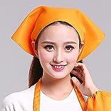 Transer Womens Hat Cap for Chef Housewife Waiter Cleaner Nanny Kitchen Worker (Orange)