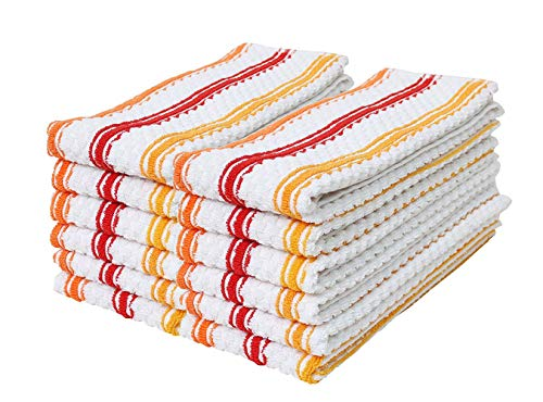Cotton Stripe Terry Dish Towels, 15x25