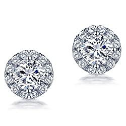 White Gold Diamond Engagement Earrings
