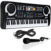 HAPPYTOYS 61 Keys Digital Music Electronic Keyboard Key Board Gift Electric Piano Gift Musical Toys Educational Toys Piano Toys