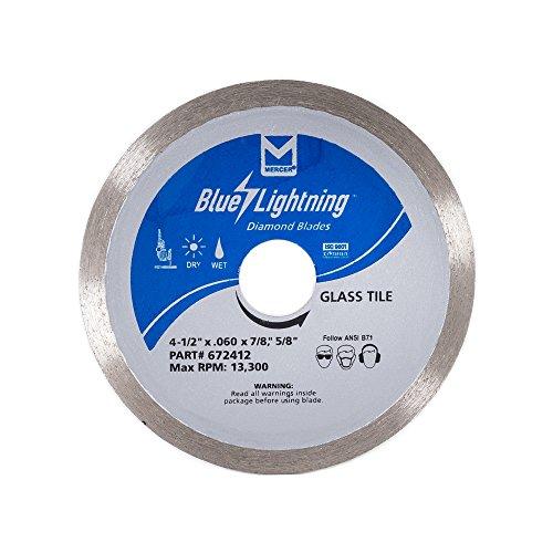 Mosaic Tile Diamond (Mercer Industries 672412 Diamond Blade for Glass Tile, 4-1/2