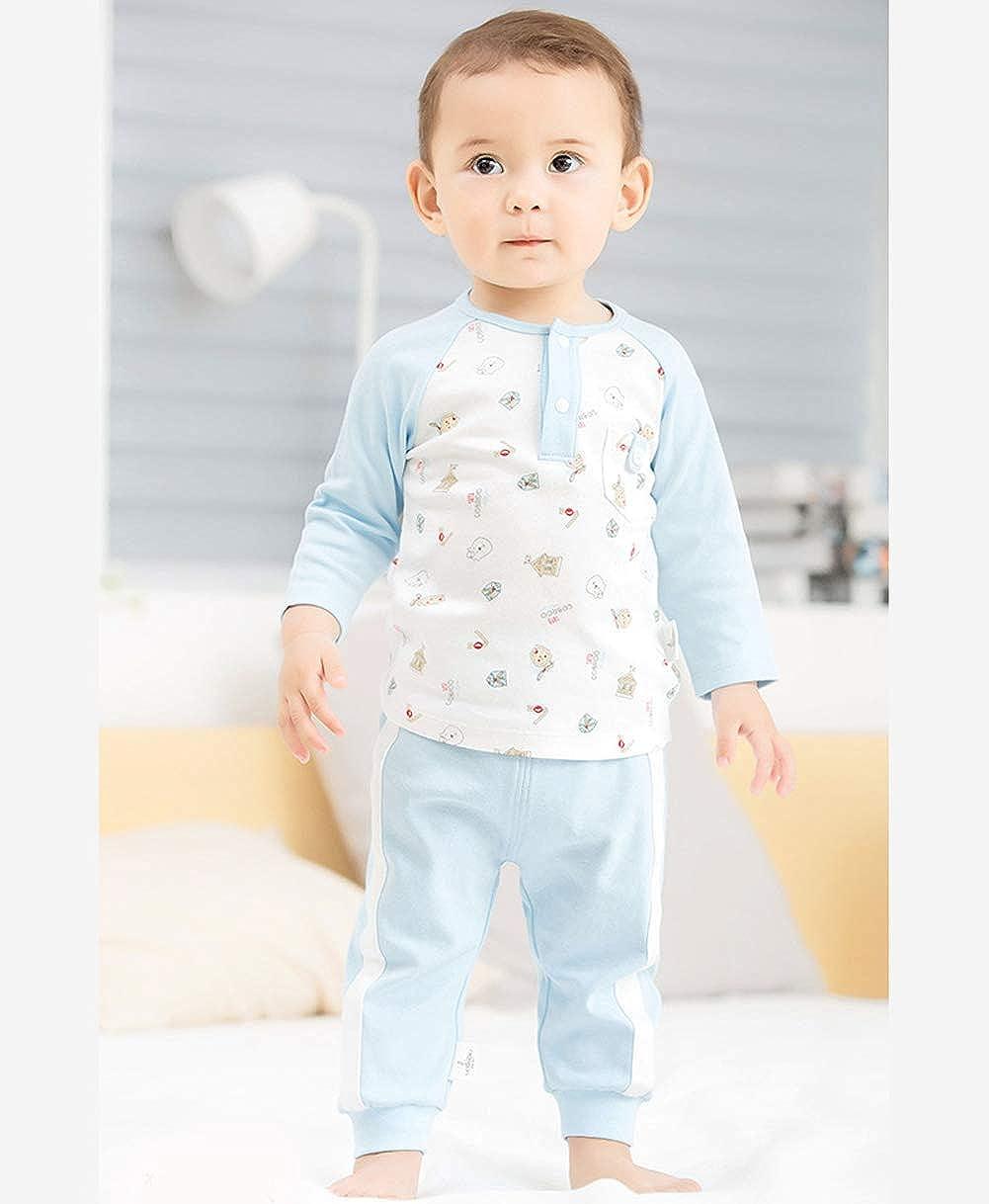 COBROO Newborn Baby Boy Romper Bodysuit Striped Pattern Cotton Summer Button Design Unisex Baby Clothes Onesies 0-3-6 Month