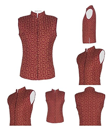 Cotton Lane Hand Block Reversible Printed 100% Cotton Waistcoat.