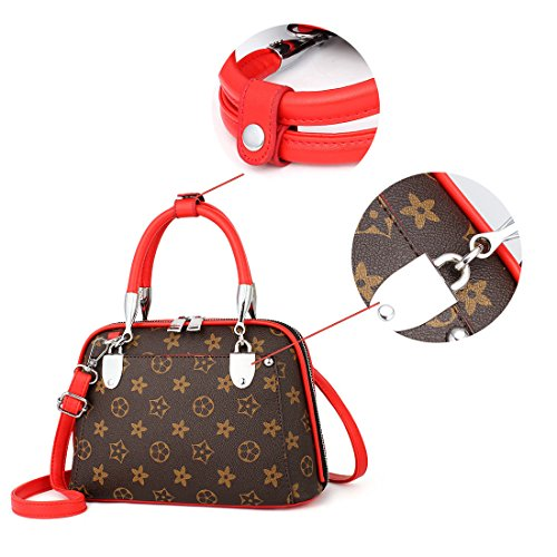 Mano Moda Tracolla Donna a Spalla Pelle Borse borsetta Ragazza a Grandi Secchiello Borse Maod Elegante a Impermeabile Rosso Tote Borsa Borsa BIqwFg4B