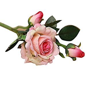 Archangel Smile Rose,Real Latex Touch Flowers for Wedding and Home Design Bouquet Decor(Pack of 5 91