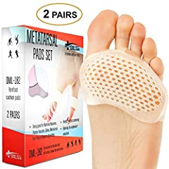 DALIVA Co. Metatarsal Gel Pads stick to your shoes, not your skin, providing unsurpassed comfort and protection from ball of foot pain. Reduce ball of foot pain and prevent skin irritation from sticky pads. Neuroma pain, caused by a pinched n...