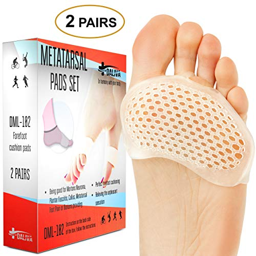 Ball of Foot Cushions - Metatarsal Pads Forefoot Pad - Metatarsal Cushion Morton's Neuroma - Metatarsal Foot Pads - Gel Foot Cushion - Morton's Neuroma Callus Metatarsal - Soft Gel Inserts in USA