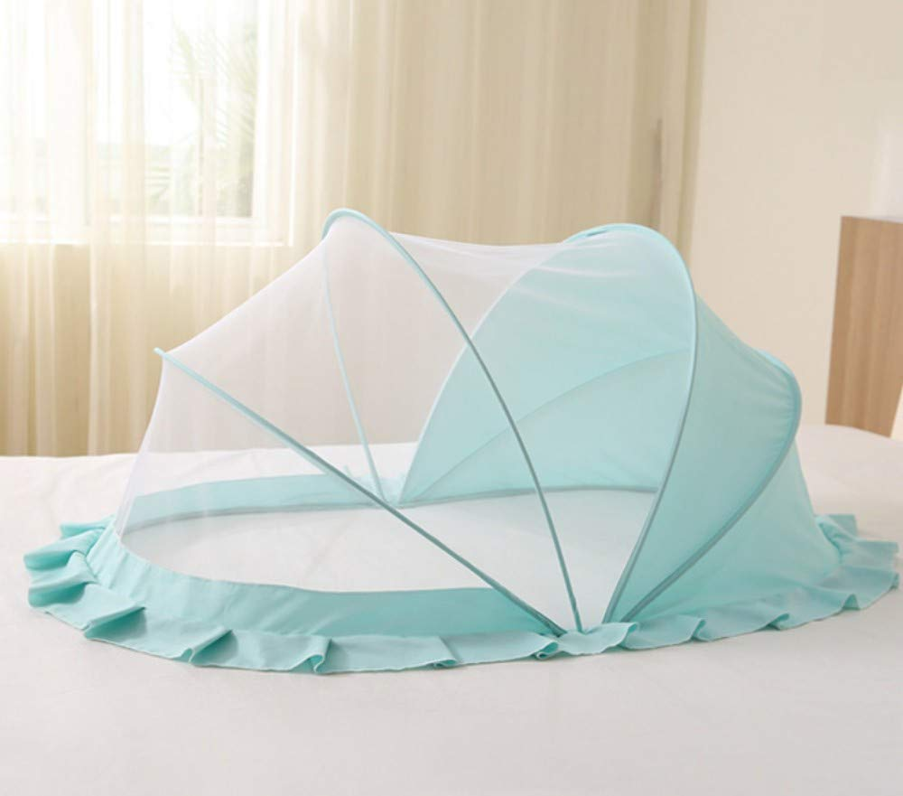 TYZNB Baby Mosquito net Summer Mosquito Folding Portable Free Installation Child Mosquito net Bed Full Cover 2019 New, Large Green (1286570)