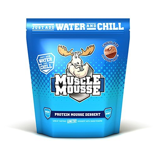 Protein Chocolate Mousse - Muscle Mousse 750g White Chocolate Protein Dessert by Muscle Mousse