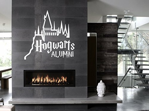 Hogwarts Alumni Harry Potter castle wall window decoration decal sticker approx.28x28 inches white (Harry Potter Halloween Decorations)