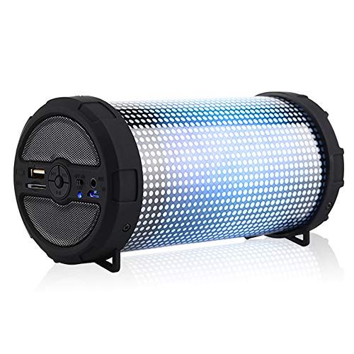 LED Bluetooth Speakers with Color Lights, Portable Wireless Bluetooth Speaker for Computer iPhone Desktop Android Phone and More Eveyazi