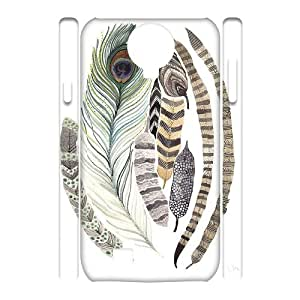 Custom Cover Case with Hard Shell Protection for SamSung Galaxy S4 I9500 3D case with Indians Feathers lxa839737