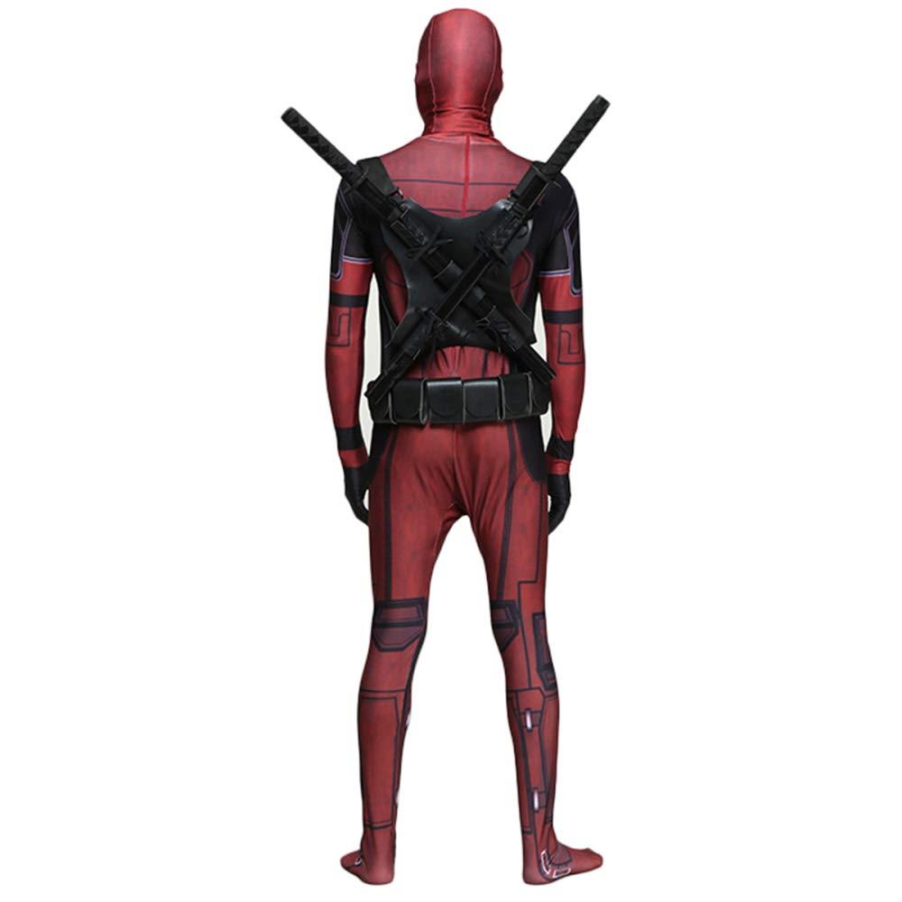 QQWE Marvel Deadpool Traje De Cosplay Body Halloween Adulto ...