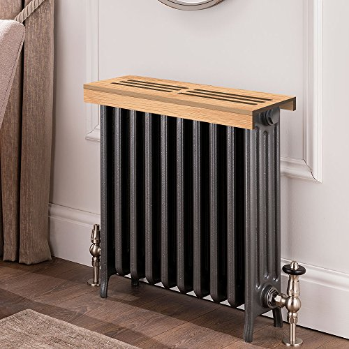 Unfinished oak Wooden Radiator Cover Shelf, 44'' Width x 11'' Length x 3'' Height by handyct