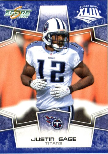 Score Tennessee Titans Nfl Card (2008 Score SuperBowl Blue NFL Football Card - (Limited to 1200 Made) # 316 Justin Gage WR - Tennessee Titans)