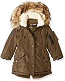 Steve Madden Big Girls' Fashion Outerwear Jacket (More Styles Available), Paprika/Military Green, 10/12