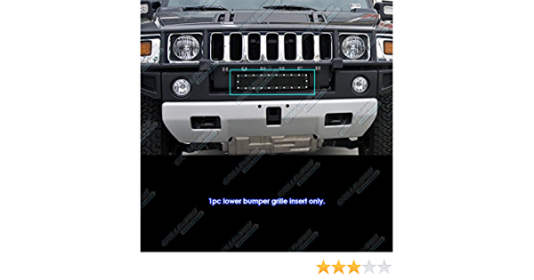 QAA fits 2003-2009 Hummer H2 2 Piece Stainless Brush Plate Accent HV43011