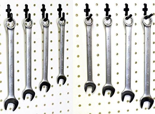 Wall Peg Hook Kit - 100 Pegboard Hooks Tool Storage Garage Organizer Choice B/W (100, Black)