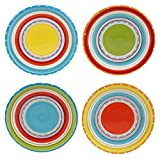 Certified International 25641SET/4 Mariachi Canape Plates (Set of 4), 6-Inch, Multicolor