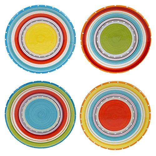Certified International 25641SET/4 Mariachi Canape Plates (Set of