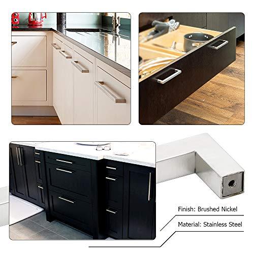 homdiy Cabinet Pulls Brushed Nickel - 15 Pack HDJ12SN 3 inch Drawer Pulls and Knobs Modern Cabinet Handles Brushed Nickel Cabinet Hardware Kitchen Drawer Pulls Square Cabinet Pulls by homdiy (Image #5)