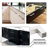 "homdiy 5 Pack 10"" Kitchen Square Cabinet Handles"
