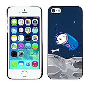 Slim Design Hard PC/Aluminum Shell Case Cover for Apple Iphone 5 / 5S Funny Flying Space Dog / JUSTGO PHONE PROTECTOR