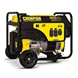 5000 Watt Portable Generator - Champion 5000-Watt Portable Generator with Wheel Kit