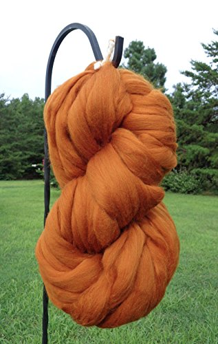 Cinnamon Spice Wool Top Roving Fiber Spinning, Felting Crafts USA (4lb) by Shep's Wool