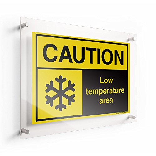 LichtWorks ANSI Acrylic Sign Caution Low Temperature 2, 10