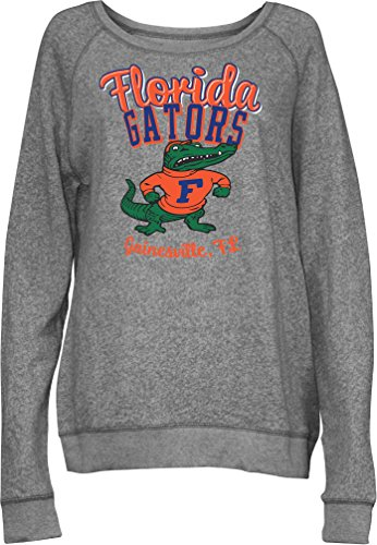 - Three Square by Royce Apparel NCAA Florida Gators Junior's Blythe Knobi Crew Fleece, Medium, Heather Grey