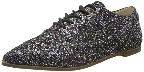 Cordones 1 Multicolor London para 15p68 Glitter Multicolor de Zapatos 01 Derby Buffalo Mujer xEBYwqpq