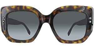 aa88cb8fa1d3 Fendi Peekaboo Chunky Square Sunglasses in Dark Havana FF 0267 S 086 51