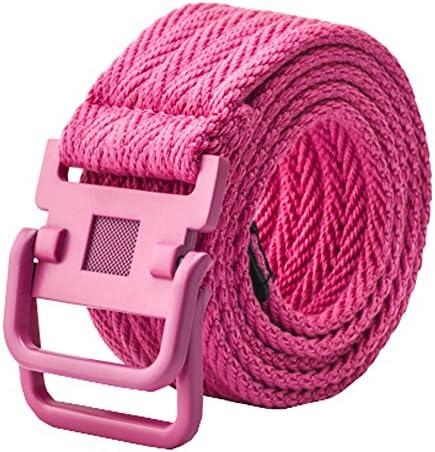 耐久性キャンバスWebベルトタクティカルベルト編みベルト、ピンク
