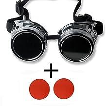 OMG_Shop Glasses Protect steam punk glasses riding goggles DIY Sliver Frame