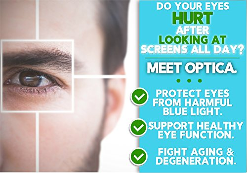 Optica - Complete Natural Eye Vitamin and Vision Supplement - Reduces Eye Strain Fatigue and Macular Degeneration - For Eye Health amp Retinal Tissue with AREDS 2 Based Lutein Zeaxanthin Cysteine Discount
