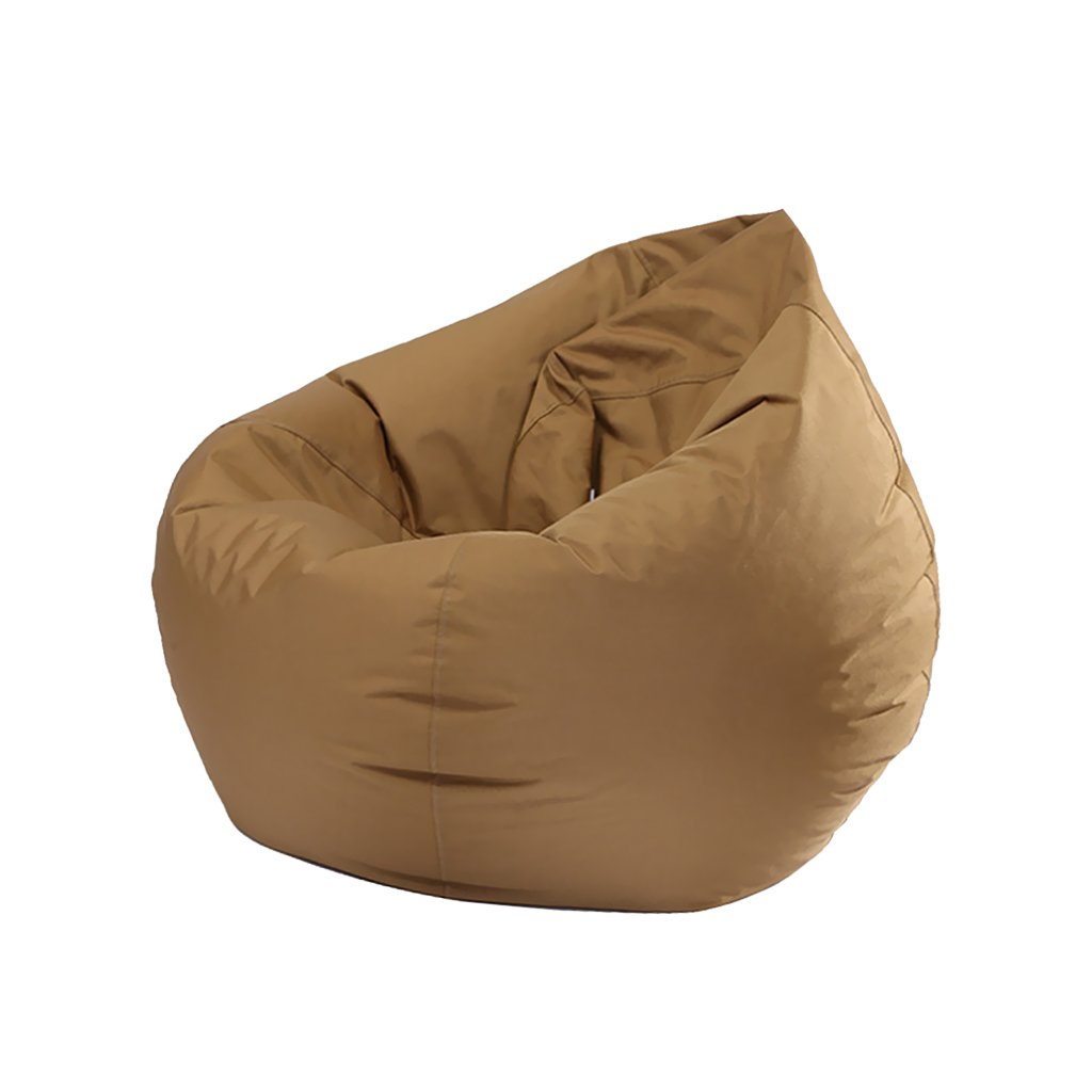 Fityle Bean Bag Chair Cover, Teen Children Playing Beanbag, Bedding Clothes Storage Bag, Room Organizer, Stuffed Animal Doll Toys Organizers - Coffee