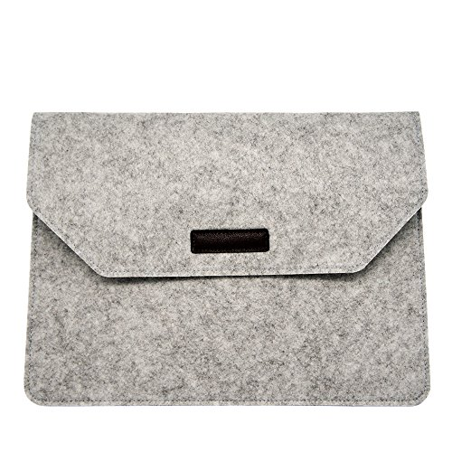 (Laptop Sleeve 13 Inch Felt Envelope Cover Ultrabook Carrying Case, Computer Sleeve with Mouse Pouch, for Apple 13 Inch MacBook Air/13 Inch MacBook Pro, Grey Laptop Bag (浅灰色3))