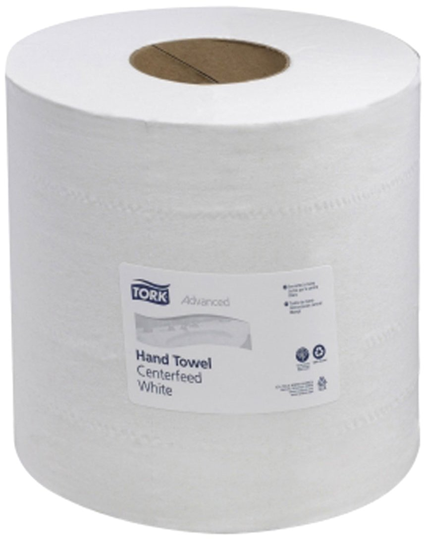 Tork 121204 Advanced 2-Ply Centerfeed Wide Hand Towels, White